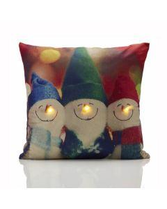 Snowman LED Cushion Cover - 45 x 45cm