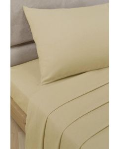 Percale Fitted Sheets - Biscuit Beige