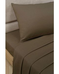 Percale Fitted Sheets - Chocolate Brown