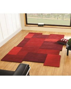 Abstract Collage Red Rugs