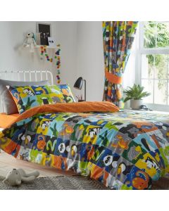 Animal Jigsaw Duvet Cover Set - Multi