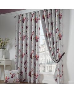 Ascot Eyelet Curtains - Red