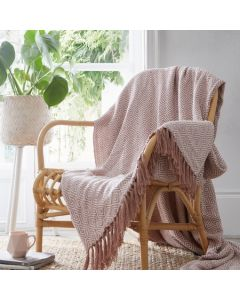 Ascot Throwover Blanket - Pink