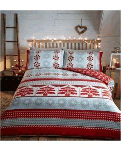 Aspen Duvet Cover Sets - Red