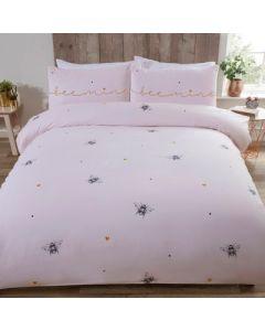 Bee Mine Duvet Cover Set - Pink