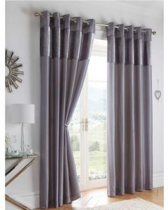 Boulevard Eyelet Curtains - Dove Grey