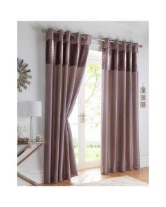 Boulevard Eyelet Curtains - Mink