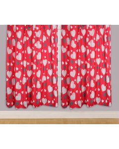"""One Direction Boyfriend Love Hearts Red Curtains 66 x 54"""""""