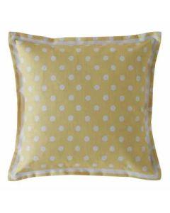 Cath Kidston Button Spot Cushion - Yellow
