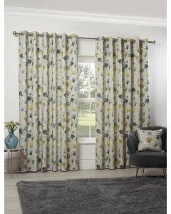 Camarillo Chartreuse Eyelet Curtains - Ochre