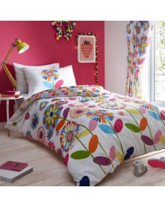 Candy Bloom Duvet Cover Set or Curtains