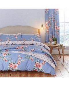 Catherine Lansfield Canterbury Bedding Set - Mid Blue