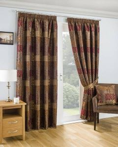 Casablanca Pencil Pleat Curtains - Terracotta