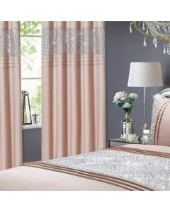 Charleston Sequin Eyelet Curtains - Blush - 66x72""