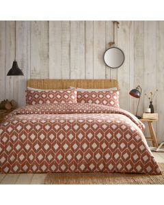 Chevron Duvet Cover Set - Terracotta