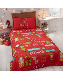 Christmas Funbed Duvet Cover Set - Red