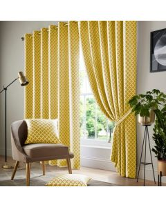Cotswold Eyelet Curtains - Ochre