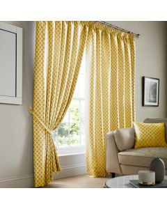 Cotswold Pencil Pleat Curtains - Ochre
