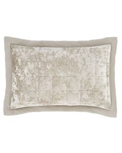 Catherine Lansfield Crushed Velvet Pillowshams Pair - Natural