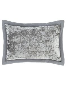 Catherine Lansfield Crushed Velvet Pillowshams Pair - Silver