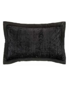 Catherine Lansfield Crushed Velvet Pillow Sham Pair - Black - 50x75cm