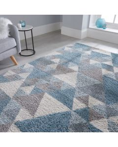 Dakari Nuru Rug - Blue/Cream/Grey