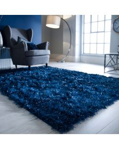 Dazzle Shaggy Rug - Midnight Blue