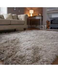 Dazzle Shaggy Rug - Natural