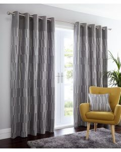 Detroit Eyelet Curtains - Charcoal