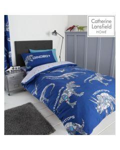 Catherine Lansfield Dinobot Duvet Cover Set - Blue