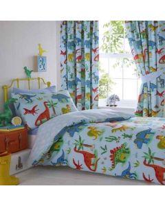 Dinosaur Duvet Cover Set - Blue