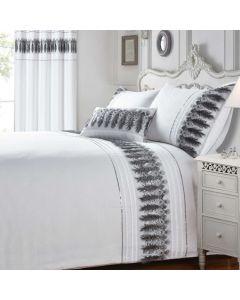 Feathers Bedding Set - White/Silver