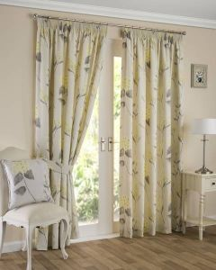 Firenze Pencil Pleat Curtains - Ochre