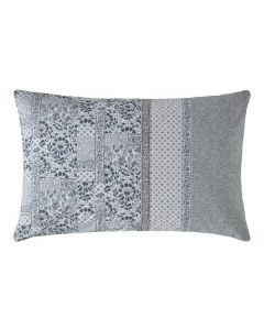 Fat Face Floral Mosaic Housewife Pillowcase Pair - Pearl Blue