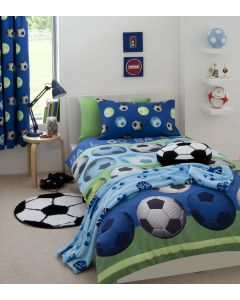 Catherine Lansfield Football Curtains -  Blue