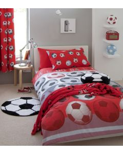 Catherine Lansfield Football Curtains -  Red