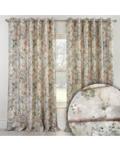 Giverny Eyelet Curtains - Moonstone