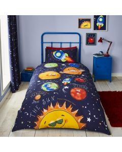 Catherine Lansfield Happy Space Duvet Cover Set
