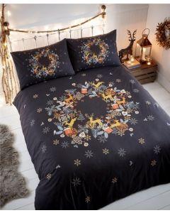 Holly Wreath Duvet Cover Set