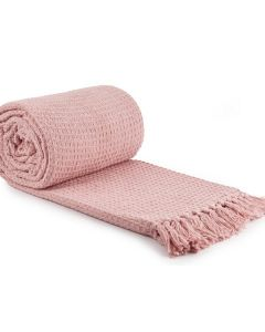 Honeycomb Throw Cotton - Blush