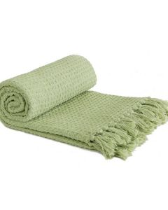 Honeycomb Throw Cotton - Pistachio