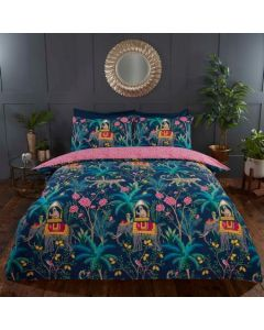 Jungle Expedition Duvet Cover Set - Navy