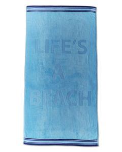 Life's a Beach Beach Towel - Blue