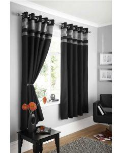 Logan eyelet curtains, black