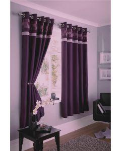 Logan eyelet curtains, plum