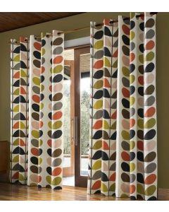 Orla Kiely Multi Stem Eyelet Curtains - Multi