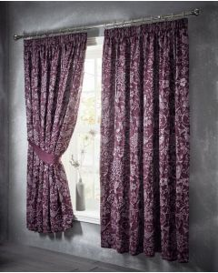 Oak Tree Curtains - Plum - 66x72""