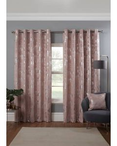 Osaka Eyelet Curtains - Blush