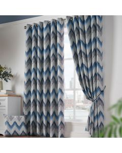 Oslo Eyelet Curtains - Blue