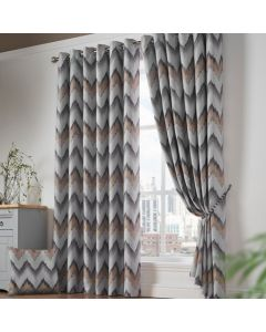 Oslo Eyelet Curtains - Ochre